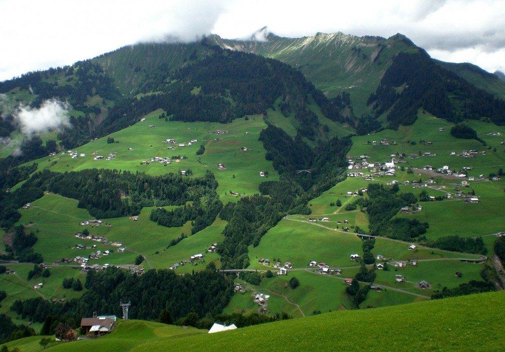Vorarlberg, Austria rural farmhouses