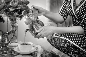 Tea party 1940's England