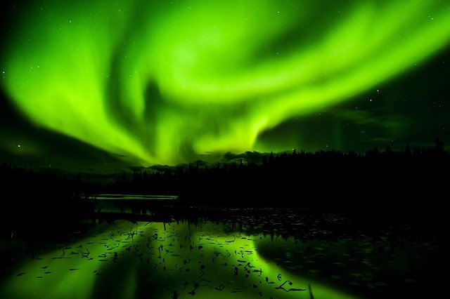 Northern lights display in Iceland