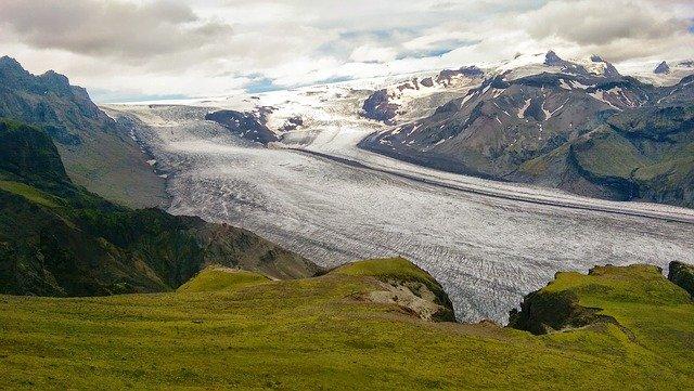 Icelandic glacier, vatnajokull,