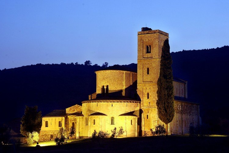 Castle in rural Chianti, Tuscany, Italy.