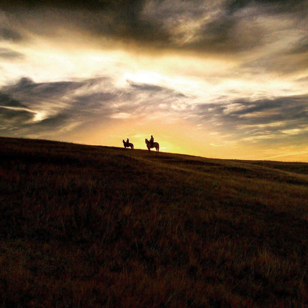 Horseback Riding at Bar Diamond Guest Ranch, a dude ranch B&B in Eastern Alberta.
