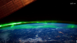 Northern lights seen from space